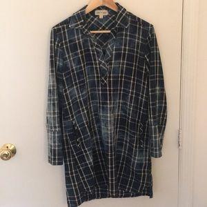 Anthropologie Cloth & Stone Plaid Shirtdress